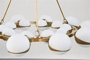 Grand Lustre Moderne : grand lustre italien moderne style stilnovo chandelier italian design danke galerie ~ Teatrodelosmanantiales.com Idées de Décoration