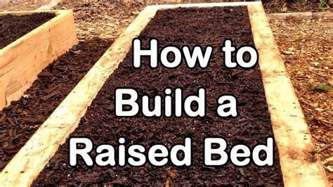 build  raised garden bed  wood easy ez