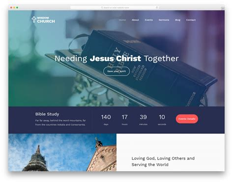24 best free church website templates 2019 colorlib
