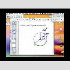 How To Find Central And Inscribed Angles Of A Circle Youtube