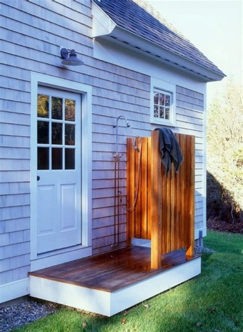 Outdoor Shower Build Yourself  Learn The Main Rules