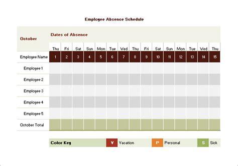 vacation schedule templates docs excel