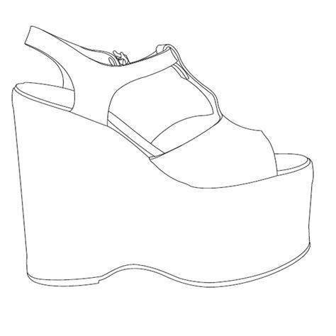 shoe template http www learningrealm org uk geisha assets images wedgesandal jpg shoes