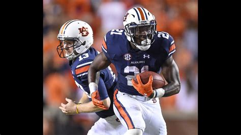 auburn running  kerryon johnson sept   youtube