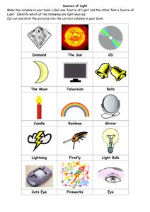 light and sound worksheets year 9 light and sound worksheets for year 1 search