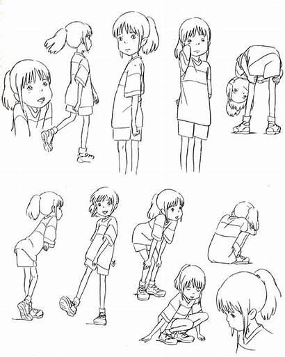 Chihiro Character Ghibli Spirited Away Studio Drawing