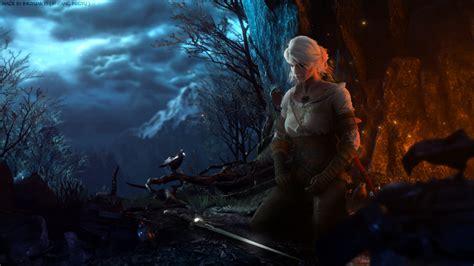 Witcher 3 Animated Wallpaper - ciri s meditation by ingyuarts on deviantart