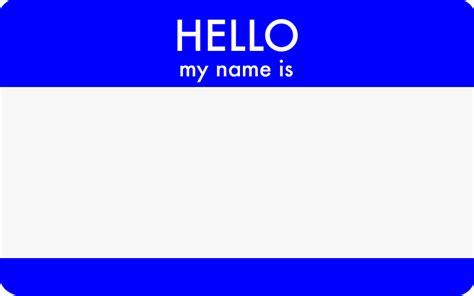 Iwitness Hello! My Name Is
