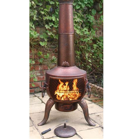 Chiminea On Sale - gardeco steel chiminea design 142cm on sale fast