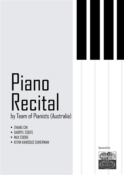 piano recital campaign design  pantone canvas gallery