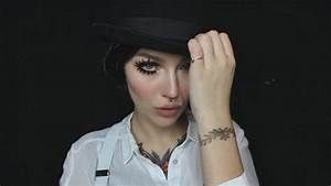 "a clockwork orange ""alex"" halloween makeup tutorial - YouTube"