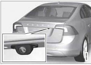 Volvo S60: Function - Rear Park Assist Camera (PAC ...