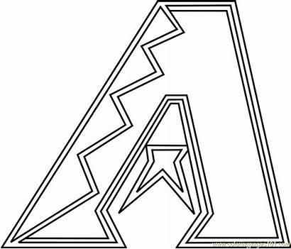 Diamondbacks Coloring Arizona Pages Mlb Coloringpages101 Pdf