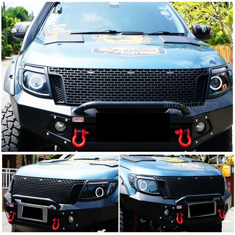 Ford Ranger Front Grille Before Facelift With 3 Amber Led