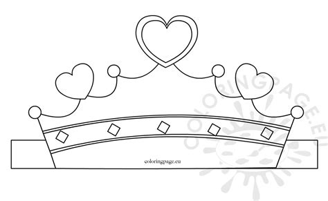 Princess Cut Out Template by Paper Princess Crown Template Coloring Page