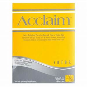 Acclaim Extra Body Acid Perm  Zotoshair  U0026 Skin Products