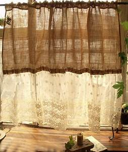 Französische Gardinen Landhaus : custom shabby french country chic burlap curtain panel cream lace ruffles sweet gardinen ~ Whattoseeinmadrid.com Haus und Dekorationen