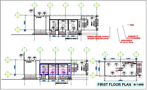 Electric Generator Room View With Floor And Roof Plan Dwg File