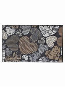 tapis d39entree en nylon imprime coeur original helline With tapis entrée original