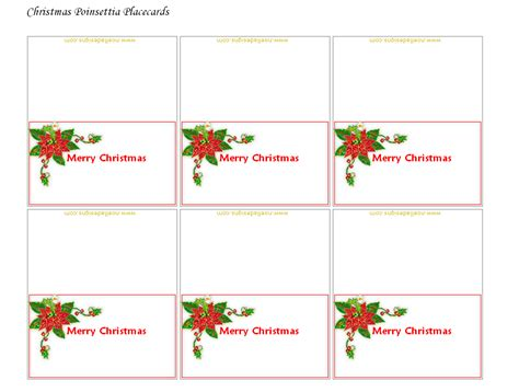 free printable christmas table place cards template 9 best images of printable christmas name cards free