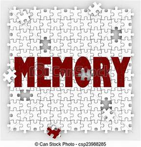 Stock Illustration of Memory Word Losing Ability Remember ...