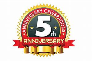 5th anniversary logo template in ping format | naveengfx