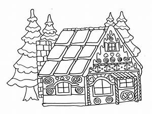coloriage dessin facile maison du pere noel With dessin de maison facile