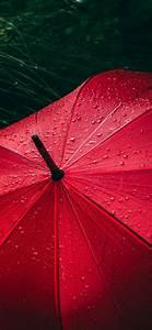 Umbrella, 4k, Wallpaper, Red, Rain, Droplets, Rainy, Day, 5k
