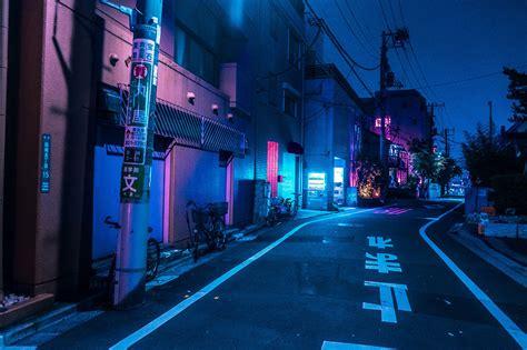 japan night aesthetic  hd wallpapers   wallpapers