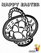 Easter Coloring Basket Pages Baskets Yescoloring Print Handsome Colouring sketch template