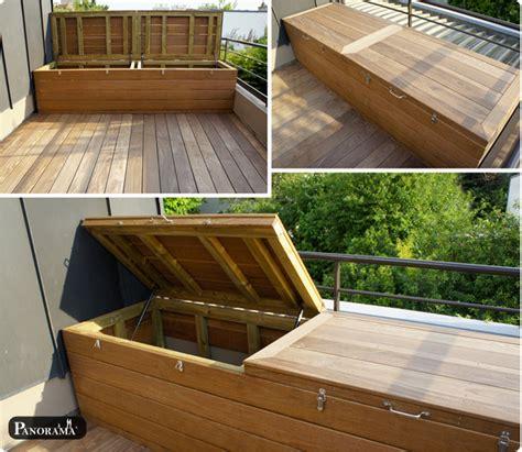 grande poubelle cuisine terrasse en bois exotique ipé trocadéro