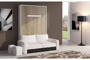 meuble avec lit escamotable armoire idees de With idee deco cuisine avec lit escamotable