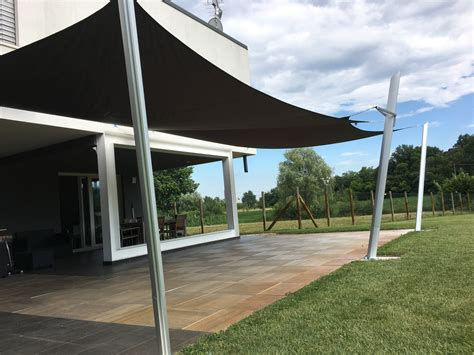 tende per terrazzo impermeabili tende a vela impermeabili come copertura di un terrazzo
