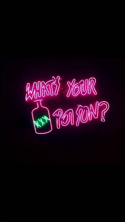 Neon Quotes Alcohol Signs Glow Lights Wallpapers