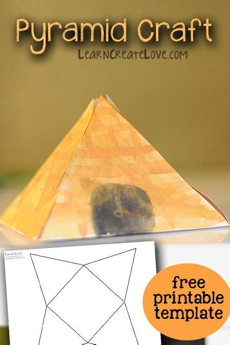 pyramid craft printable template