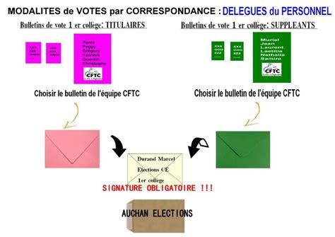 bureau de vote ections professionnelles kit de vote par correspondance explications auchan cftc