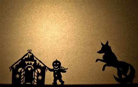 the gingerbread baby shadow puppet set 9 shadow puppets
