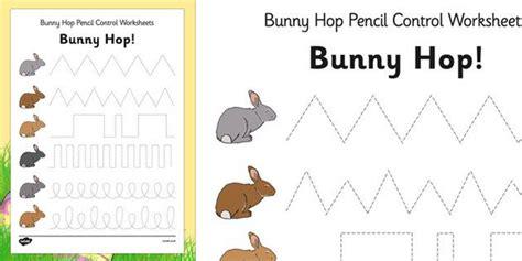 bunny hop pencil control worksheets handwriting