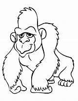 Gorilla Coloring Pages Orangutan Clipart Cute Print Animals Colouring Printable Grilla Baby Cartoon Clipartion Gorila Drawings Colorings Draw Coloringbay Getcoloringpages sketch template