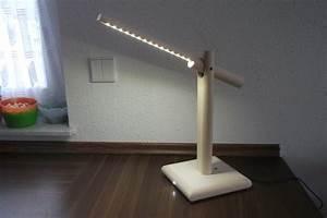 Led Lampe Selber Bauen : led schreibtischlampe aus holz mit klatschsensor i and diy ~ Orissabook.com Haus und Dekorationen