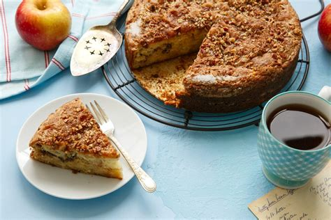 As a girl, i loved to bake and would make all kinds of wonderful things in my mother's kitchen. Apple Sour Cream Coffee Cake   Love and Olive Oil