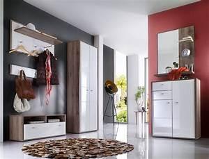 Flur Und Dielenmöbel : garderobe como 21 wei hochglanz 6 teilig garderobenm bel dielenm bel wohnbereiche bad ~ Sanjose-hotels-ca.com Haus und Dekorationen