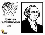 Coloring Washington Presidents Pages George Printable President Usa Yescoloring American Leader Fierce America sketch template