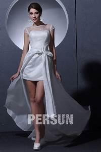 Robe De Mariée Moderne : robe de mari e moderne col bateau courte mancheron ~ Melissatoandfro.com Idées de Décoration