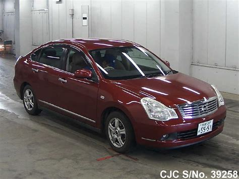 nissan bluebird 2007 nissan bluebird sylphy red for sale stock no 39258
