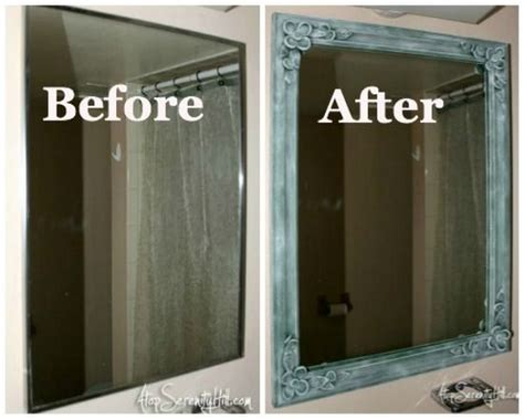 How To Replace A Bathroom Mirror by Frame Update To Medicine Cabinet Small Bathroom
