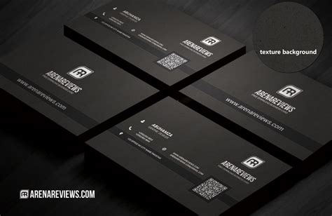 textured black business card template