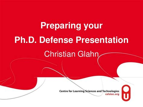 prepare  phd defense