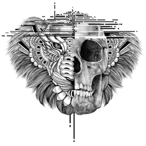 luckydubz collections lion skull tattoo design