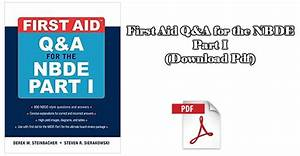 First Aid For The Nbde Part 1 3rd Edition  Download Pdf